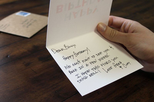 The Felt App lets you handwrite and send real cards in the mail--all from your iPad.  (PRNewsFoto/Felt App)