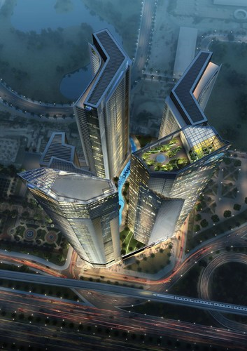 AYKON City will join other iconic developments in the golden quadrant Dubai such as City Walk, the Burj ...