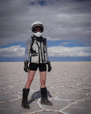 Artist Heather L. Johnson in Salar de Uyuni, the world's largest salt flat in southwest Bolivia. Her work will be shown at Cherryhurst House in Houston from September 24 through February 19.