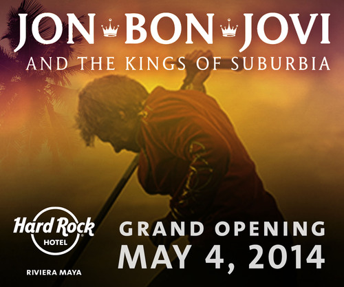 HARD ROCK HOTEL RIVIERA MAYA ANNOUNCES OFFICIAL GRAND OPENING EVENT WITH PERFORMANCE BY BON JOVI AND THE KINGS OF SUBURBIA.  (PRNewsFoto/All Inclusive Collection)