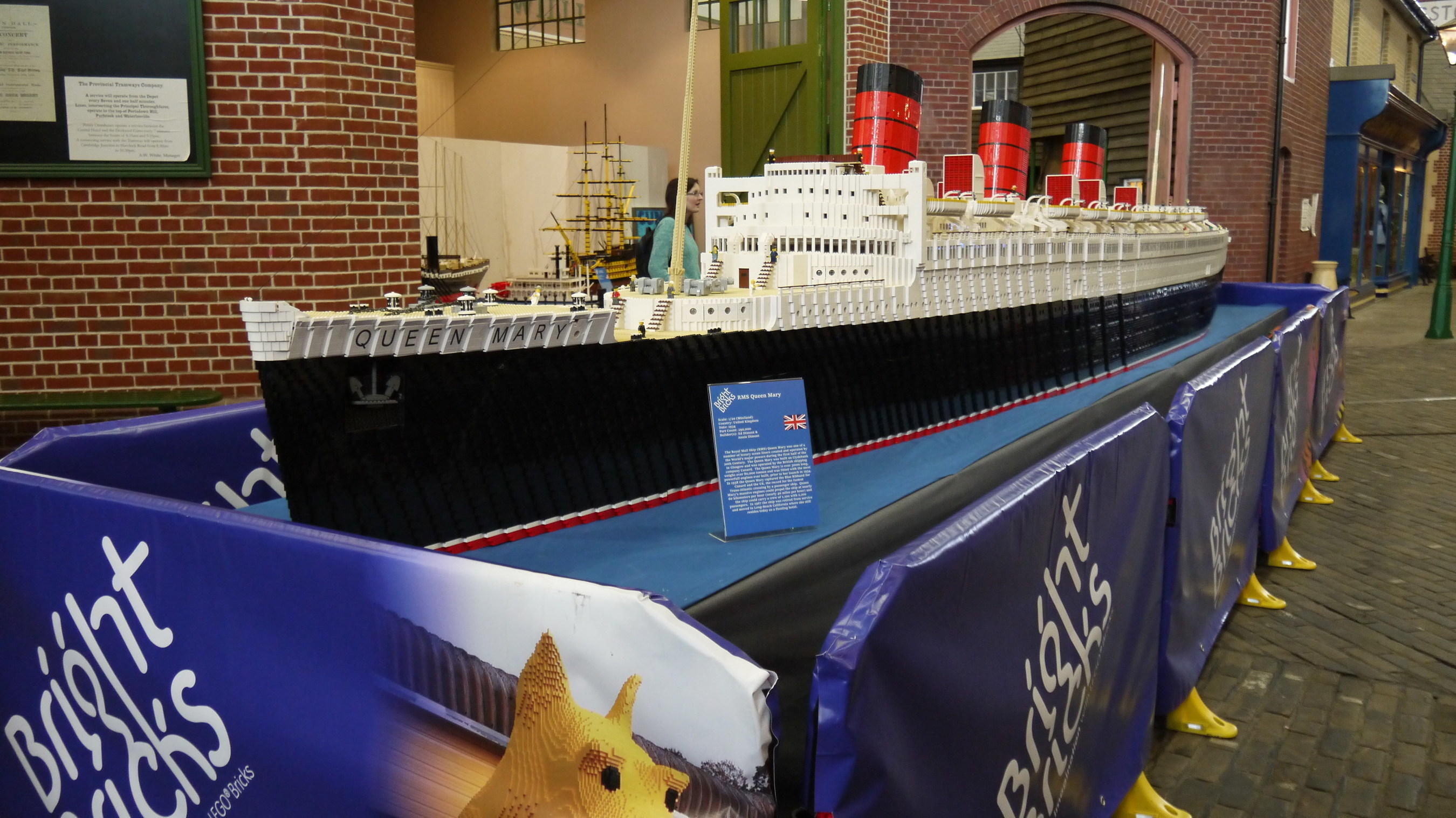 WORLD'S LARGEST LEGO(C) BRICK MODEL SHIP COMES TO THE QUEEN MARY IN LONG BEACH