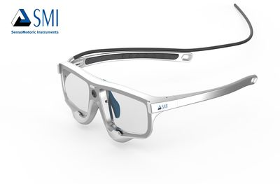 Natural Gaze head gear design for SMI Eye Tracking Glasses 2 Wireless.