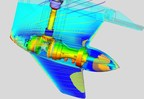 This engineering simulation from BRP - illustrating forces on an engine's gearcase - was one of the winners of the annual ANSYS Hall of Fame competition.