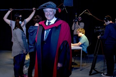 BBC Director-General Tony Hall receives an Honorary Doctorate from the University of South Wales (PRNewsFoto/University of South Wales)