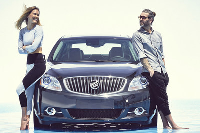 Bar Refaeli and Chad Dennis for the Buick 24 Hours of Happiness Test Drive