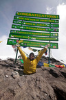 Double amputee Spencer West reaches peak of Mt. Kilimanjaro while raising more than $500,000 for international charity and youth empowerment organization Free The Children.  (PRNewsFoto/Free The Children)