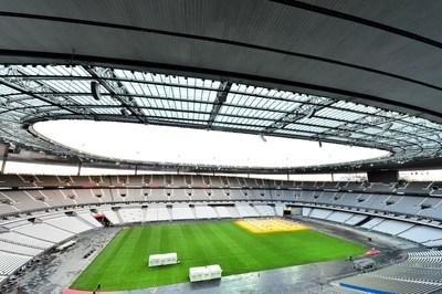 Stade de France(C) - Macary, Zublena et Regembal, Costantini - Architectes, ADAGP - Paris 2016 - Photographe :  FFoucha XMuyard. (PRNewsFoto/Tarkett Sports)