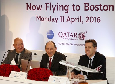 Qatar Airways Holds Press Conference to mark the start of the airline's Boston route Launch