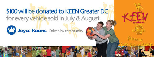 Joyce Koons Honda hopes to donate $60,000 to KEEN Greater DC