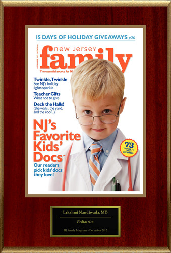 Manalapan's Lakshmi Nandiwada selected for NJ's Favorite Kids' Docs.  (PRNewsFoto/American Registry)
