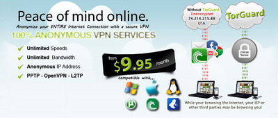 Anonymous VPN Service - Unlimited Speeds & Bandwidth.  (PRNewsFoto/TorGuard)