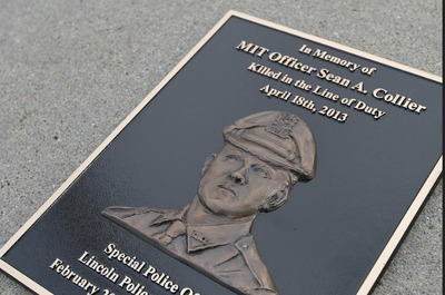 Custom plaques with sketch-like renderings can be installed to honor those killed in the line of duty.  (PRNewsFoto/Impact Architectural Signs)