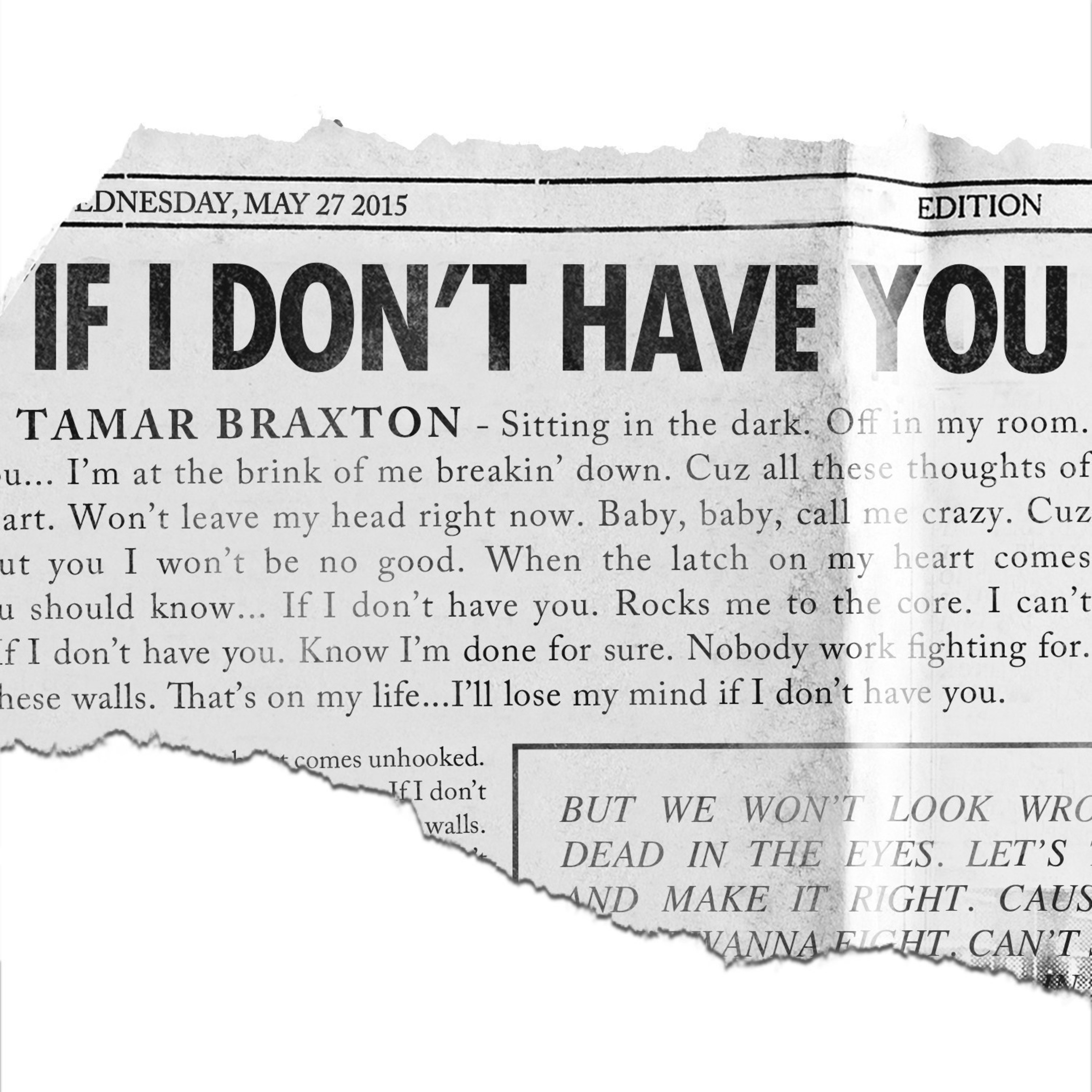 """Tamar Braxton Launches Brand New Single, """"If I Don't Have You"""""""