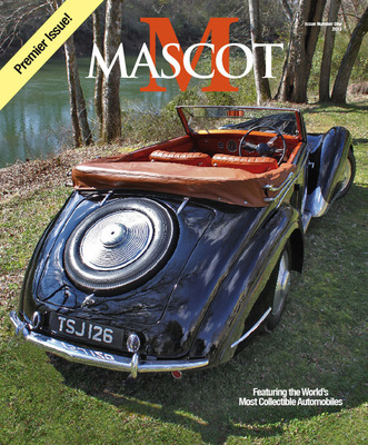 Boasting one hundred pages of rich photography and exclusive feature stories, Mascot Magazine puts the Concours d'Elegance experience into the hands of any collectible automobile fan. With Issue Number One featuring rare Duesenbergs, a 1933 Packard Super 8 Sport Phaeton, a 1947 Delahaye 135M, the 1953 Hudson Italia prototype and the 1957 Rolls-Royce EX 44/Hooper, Mascot Magazine brings collectible cars to life like no other publication.  (PRNewsFoto/Mascot Magazine)