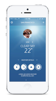 Klyme: Get ready for your ultimate weather assistant, fully designed for you. (PRNewsFoto/AppaDeus LLC) (PRNewsFoto/APPADEUS LLC)
