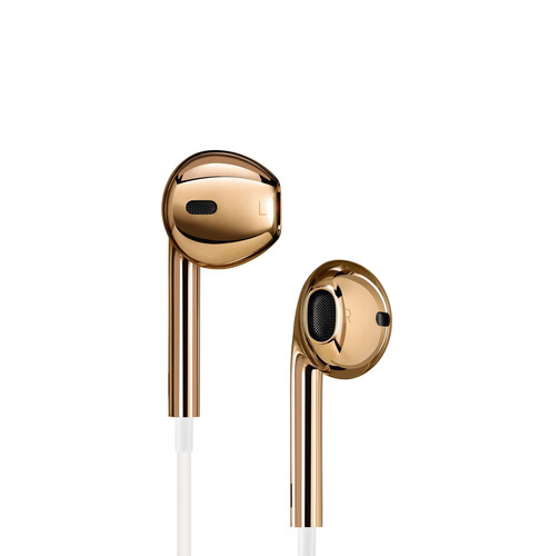 A one-of-a-kind pair of classic Apple EarPods in solid rose gold created for the (RED) Auction. ...