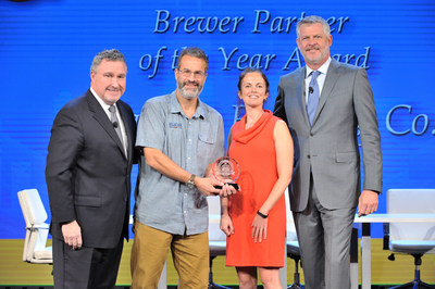 (From Left to Right) National Beer Wholesalers Association President and CEO Craig Purser; Allagash Brewing Company Founder Rob Tod and Sales Director Naomi Neville; NBWA Chairman of the Board Travis Markstein