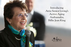 Introducing Atria Senior Living's Active Aging Ambassador, Billie Jean King.  (PRNewsFoto/Atria Senior Living)