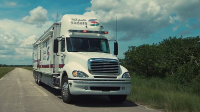 NACSV's sophisticated, custom-manufactured vehicle built for Sadara, a $20 billion petrochemical joint venture between Dow Chemical and Saudi Aramco, the global petroleum and chemicals enterprise owned by the Kingdom of Saudi Arabia.  NACSV was honored to be selected by Sadara to supply this high-end vehicle after successfully building a similar vehicle to help protect a Dow Chemical facility in Louisiana. (PRNewsFoto/Global Digital Solutions, Inc.)