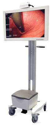 "AlphaView 32"" Surgical LCD with 8-Hour Battery Cart and Wireless HD Interface, available exclusively through Quest International.  (PRNewsFoto/Quest International, Inc.)"