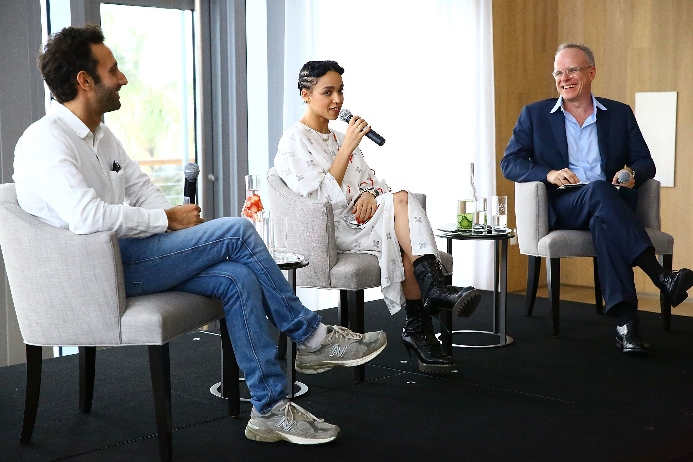 Surface and Hans Ulrich Obrist discuss the cross section of art and design with musician FKA Twigs and artist Alex Israel at The Miami Beach EDITION