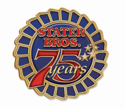 Stater Bros. Markets 75th Anniversary logo.  (PRNewsFoto/Stater Bros.)