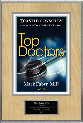 Dr. Mark Faber, M.D. is recognized among Castle Connolly's Top Doctors(R) for Upper Montclair, NJ region in 2013. (PRNewsFoto/American Registry)