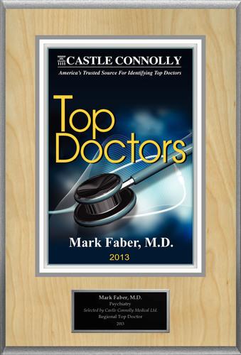 Dr. Mark Faber, M.D. is recognized among Castle Connolly's Top Doctors® for Upper Montclair, NJ