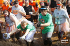 For their 25th wedding anniversary, Lisa and Scott Reynolds, St. Paul, MN, decided to trade in the champagne for a whole lot of mud. To celebrate, the couple participated in MuckFest MS Twin Cities. Lisa wore a make-shift wedding dress, complete with a veil and bouquet, and Scott donned a top hat and boutonniere. Lisa was diagnosed with MS in 2004. Photo credit: www.MuckFestMS.com.