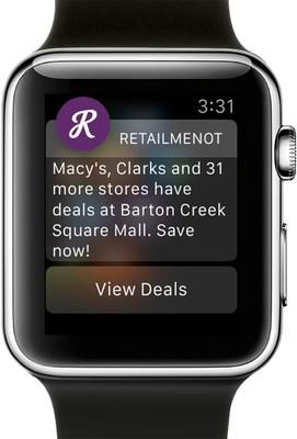The RetailMeNot Apple Watch app
