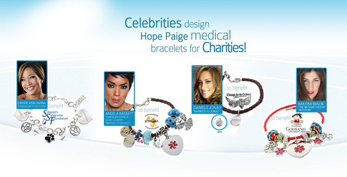 Hope Paige Celebrity Charity Bracelets. (PRNewsFoto/Hope Paige Designs)