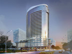 Rendering of new 30-story luxury high-rise in Legacy West development in Plano, Texas.