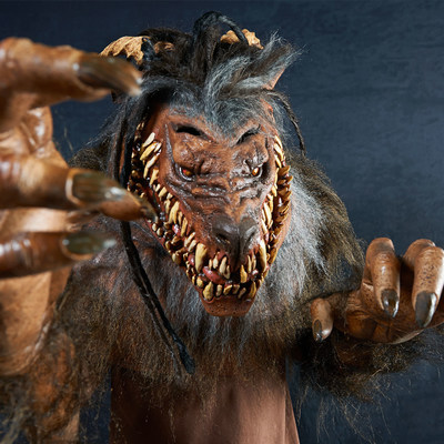 Snarling Werewolf is a part of The Nightmare Collection, 14 hand-crafted masks and costumes created exclusively for BuyCostumes.com(R) by master sculptor Mario Chiodo.