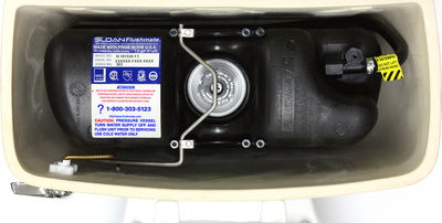 Settlement reached in lawsuit involving Series 503 Flushmate III Pressure Assist Toilet Flushing System.  Image shows what the Flushmate III System looks like.  Not all Flushmate systems are included in the Settlement.  Visit www.FlushmateClaims.com to see if yours is included.  (PRNewsFoto/Birka-White Law Offices ...)