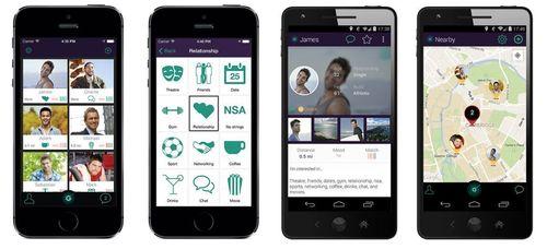 iOS screen shot – grid view iOS screen shot – mood choice Android screen shot - profile Android screen shot – map view (PRNewsFoto/GiFi)