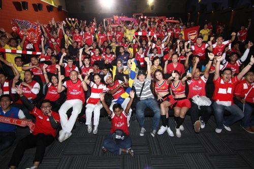 Arsenal fans at Bodog FA Cup event Malaysia (PRNewsFoto/Bodog)