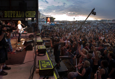 Jeff Bridges performing at American Thunder Benefit for Bob Woodruff Foundation at Buffalo Chip in Sturgis, South Dakota Aug. 11th. (Photo credit: David Rose) (PRNewsFoto/Bob Woodruff Foundation, David Rose)