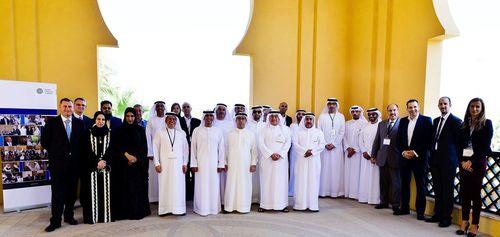Participants and BDI faculty at the Building Better Boards workshop in Ras Al Khaimah, 22 April 2015. (PRNewsFoto/GCC Board Directors Institute)