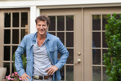 Sears celebrity designer Ty Pennington admires his work after making over the patio for America's Favorite Bachelor Couple, Sean and Catherine Lowe. The makeover from drab to fab is captured in a new web series sponsored by Sears Outdoor Living. Watch it at sears.com/outdoorliving.