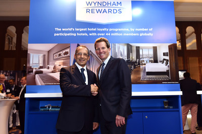 Mr. Hani Kafafi, CEO Al Houda Hotels and Tourism Company and Geoff Ballotti, president and chief executive officer of Wyndham Hotel Group, celebrate an expanded presence in Najaf. (PRNewsFoto/Wyndham Hotel Group)