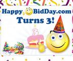 Happy Birthday to HappyBidDay.com.  (PRNewsFoto/HappyBidDay)