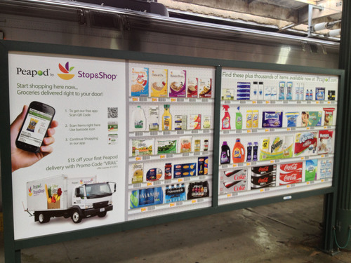 Peapod.com launches virtual grocery stores at more than 100 train stations from Boston to D.C. and in Chicago.   ...