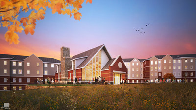 Rendering of EdR's on-campus living-learning community now in construction at Northern Michigan University in Marquette, Mich.