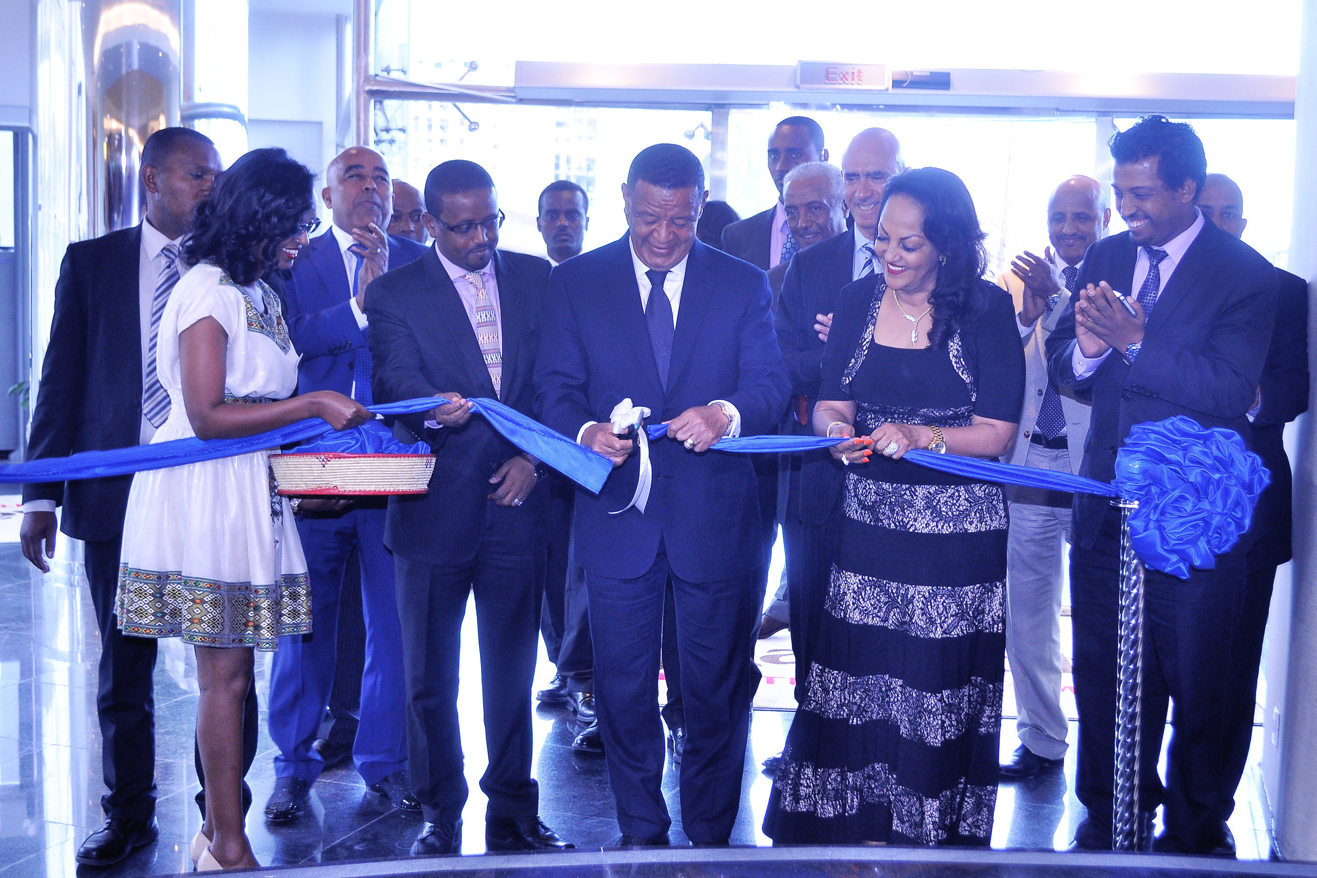 Marriott Executive Apartments Addis Opens with President Mulatu Teshome cutting the ribbon