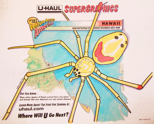 U-Haul to Unveil Jamie Jay's Watercolor Rendition of the SuperGraphic Representing Hawaii at Sunset Skating Rink.  (PRNewsFoto/U-Haul)