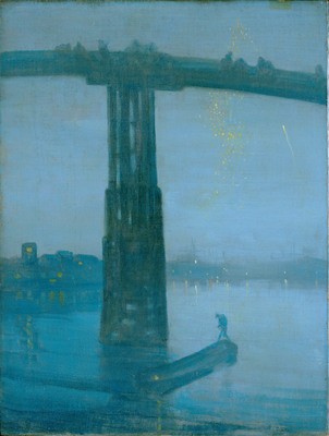 """Starting May 3, the Smithsonian hosts the largest exhibition of James McNeill Whistler in a generation. """"An American in London: Whistler and the Thames,"""" on view at the Arthur M. Sackler Gallery throughout the summer, is the first show to look at Whistler's transformational early years in London, when he developed his famous """"Nocturne"""" works. (Image: Nocturne: Blue and Gold - Battersea Bridge by James McNeill Whistler; copyright Tate, London 2013, presented by The Art Fund, 1905).  (PRNewsFoto/Freer Sackler, Smithsonian)"""