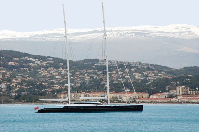 Vitters Shipyard and Oceanco deliver the 85m S/Y AQUIJO (PRNewsFoto/Oceanco)