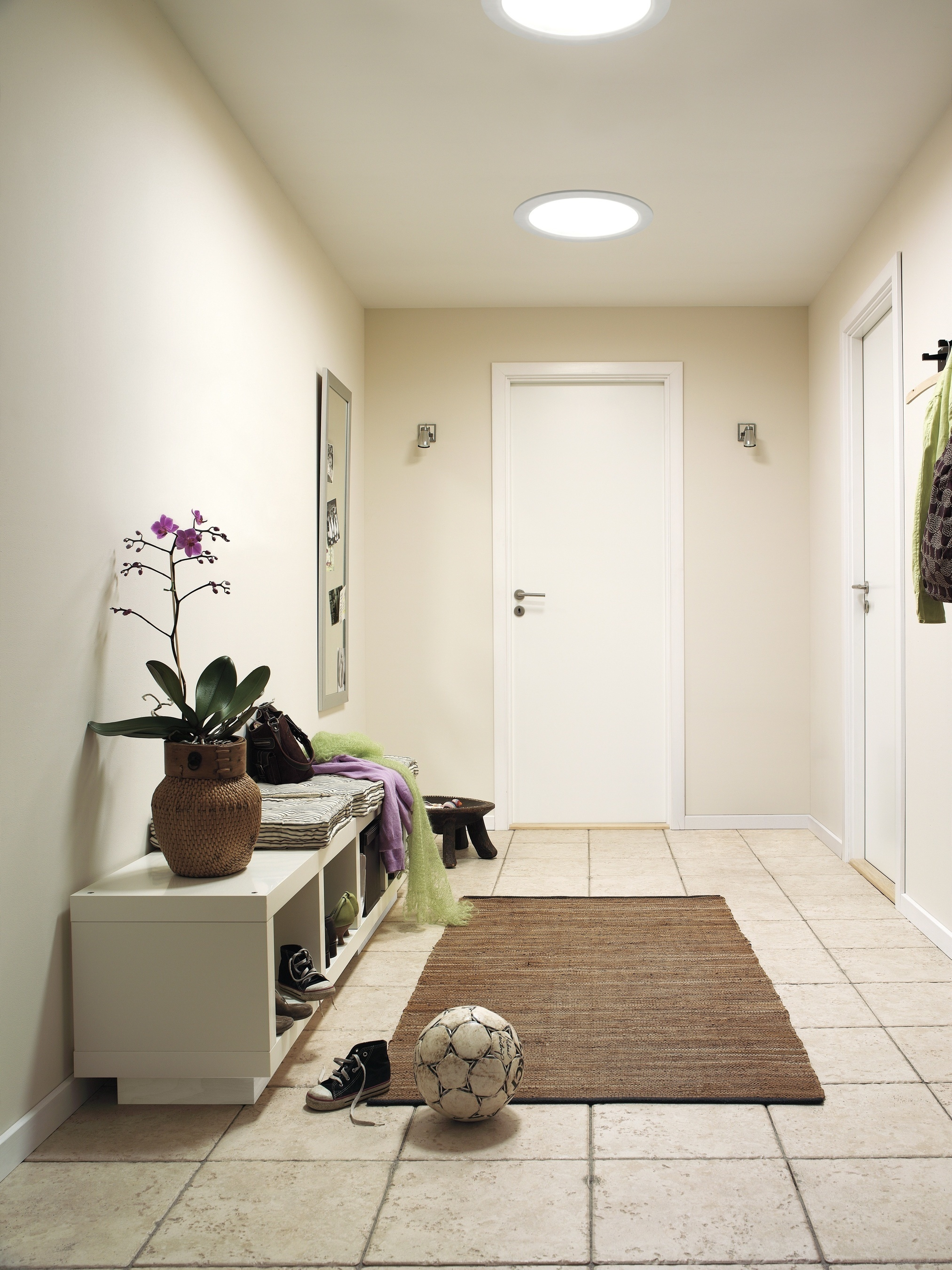 VELUX Sun Tunnel tubular skylights are inexpensive and can be installed professionally or by a knowledgeable DIYer. They provide natural light through a variety of fashionable ceiling diffusers to areas of the home where traditional skylights may not fit or aren't the best solution for daylighting needs. Sun Tunnel skylights are particularly useful in hallways, closets, laundry rooms and baths. (PRNewsFoto/VELUX)