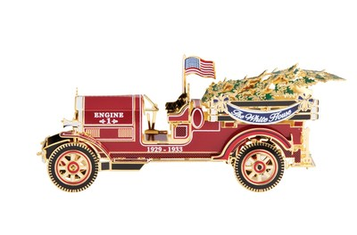 Official 2016 White House Ornament Commemorates Fire Trucks from 1929 White House Christmas Eve Fire