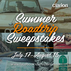 Clarion's Summer Roadtrip Sweepstakes promotion inspired by the global influence of the BMW 2002 in fashion and lifestyle and relates to the first Clarion Builds project of a complete restoration of a 1974 BMW 2002. Clarion's Summer Roadtrip Sweepstakes runs from July 17 until August 15, 2014. To enter the sweepstakes for a chance to win cool prizes, go to www.facebook.com/clarionusa and follow directions. No purchase is necessary. Clarion's Summer Roadtrip Sweepstakes' offers a gift card prizes each week and a fashionable grand prize package that will help you navigate your summer road trip in style! (PRNewsFoto/Clarion Corporation of America)